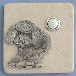 Bichon Frise Dog Breed Stone Doorbell