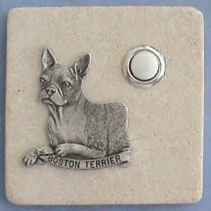 Boston Terrier Dog Stone Doorbell
