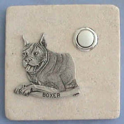 Boxer Dog Breed Stone Doorbell