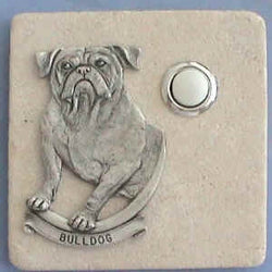 Bulldog Dog Breed Stone Doorbell