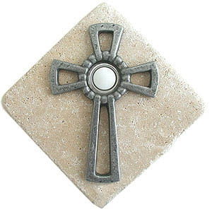 Celtic Cross Stone Doorbell