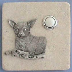 Chihuahua Dog Breed Stone Doorbell