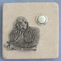 Cocker Spaniel Dog Stone Doorbell