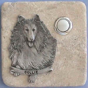 Collie Dog Breed Stone Doorbell
