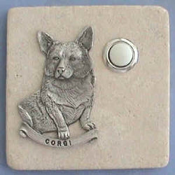 Corgi Dog Breed Stone Doorbell