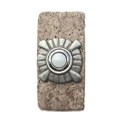 Compass Stone Doorbell in Pewter, Brass, ORB or Bronze