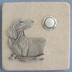 Dachshund Dog Breed Stone Doorbell