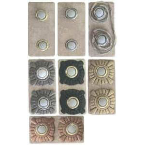 Double Button Stone Doorbells