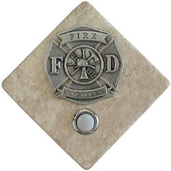 Fire Fighter Stone Doorbell