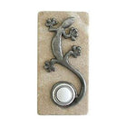 Gecko Stone Doorbell in Pewter, Brass, ORB or Bronze