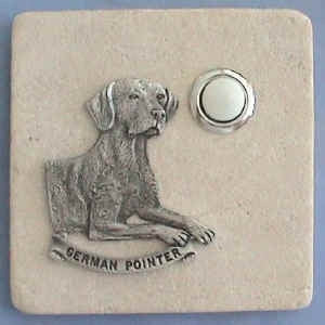 German Pointer Dog Stone Doorbell