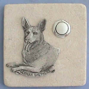 German Shepard Dog Stone Doorbell