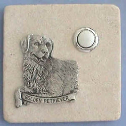 Golder Retriever Dog Stone Doorbell