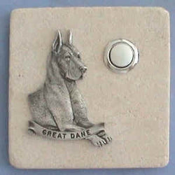 Great Dane Dog Breed Stone Doorbell