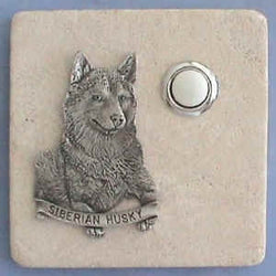 Husky Dog Breed Stone Doorbell