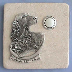 Irish Setter Dog Breed Stone Doorbell