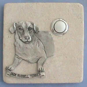 Jack Russell Dog Stone Doorbell