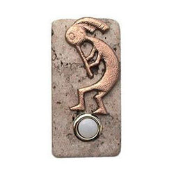 Kokopelli Stone Doorbell in Pewter, Brass, ORB or Bronze