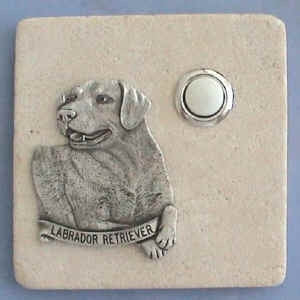Labrador Retriever Dog Stone Doorbell
