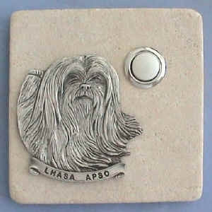 Lhasa Apso Dog Breed Stone Doorbell
