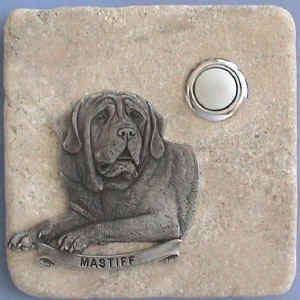 Mastiff Dog Breed Stone Doorbell