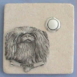 Pekingese Dog Breed Stone Doorbell