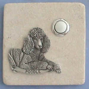 Poodle Dog Breed Stone Doorbell