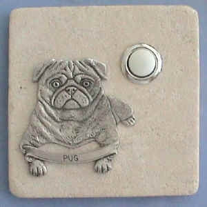 Pug Dog Breed Stone Doorbell