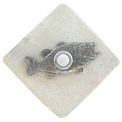 Bass Stone Doorbell Pewter Finish