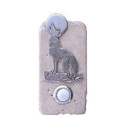 Coyote Stone Doorbell Pewter Finish
