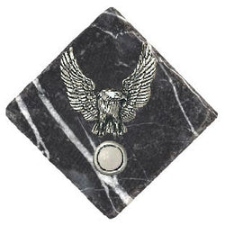 Eagle Stone Doorbell Pewter Finish