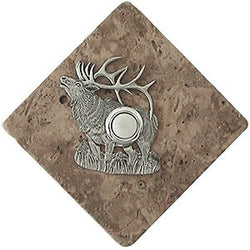 Elk Stone Doorbell Pewter Finish