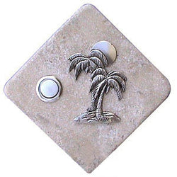 Palm Trees Stone Doorbell