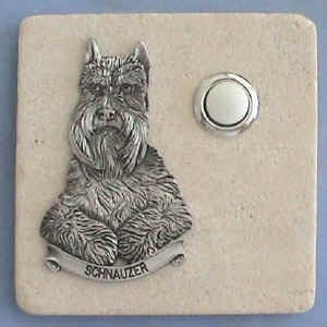 Schnauzer Dog Breed Stone Doorbell