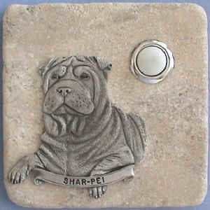 Sharpei Dog Breed Stone Doorbell