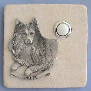 Sheltie Dog Breed Stone Doorbell