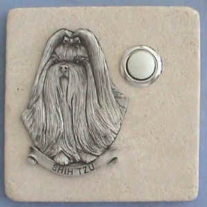 Shihtzu Dog Breed Stone Doorbell