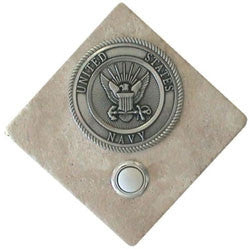 Navy Stone Doorbell Pewter Finish