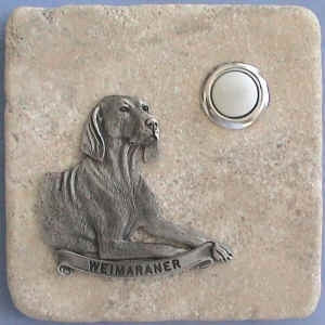 Weimaraner Dog Breed Stone Doorbell