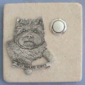 West Highland Terrier Stone Doorbell