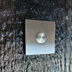 Stainless Steel Square Doorbell, Flush - No Screw Design