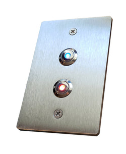 Stainless Steel Gangbox Double Doorbell