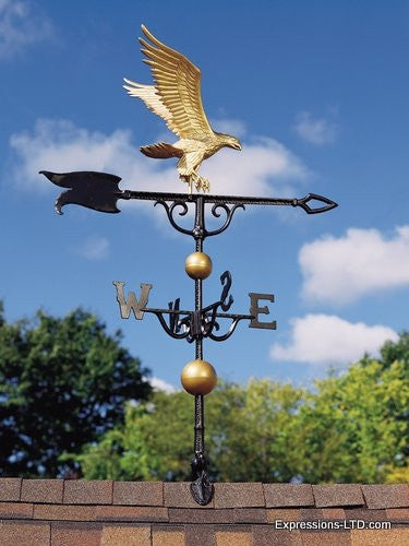 46-Inch Eagle Weathervane - Gold-Bronze