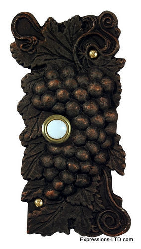 Grape Cluster Doorbell - Oil Rubbed Bronze