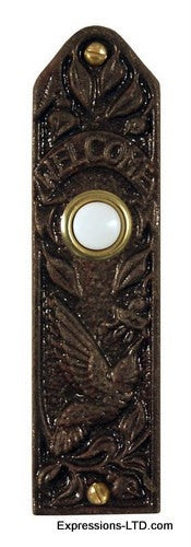 Hummingbird Narrow Doorbell - Oil Rubbed Bronze