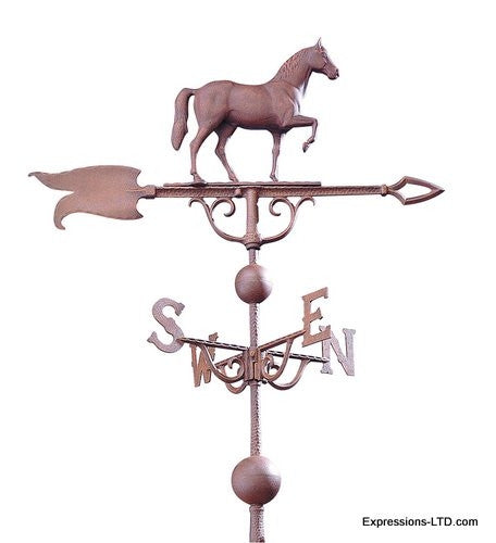 46-Inch Horse Weathervane - Rust