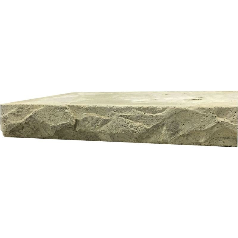 "Concrete Edge Form Liner - Heavy Chiseled Slate (2.25"" and 3.5"" Heights)"