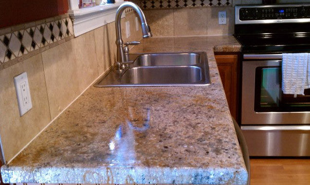 Concrete Countertop Overlay Topping- Granite Look Kit