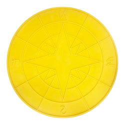 "Concrete Accent Stamp Mat - 36"" Compass Star"