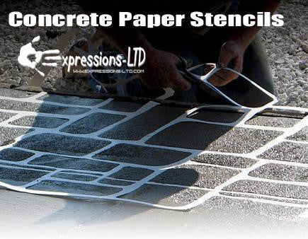 Concrete Paper Stencil - Medium Tile